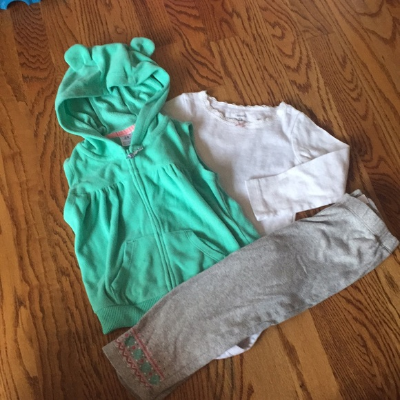 e2bbae09c Carter's Matching Sets | Carters Baby Girl Fleece Vest Outfit 24 ...